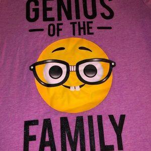 Genius Of The Family Purple Short Sleeve T-shirt